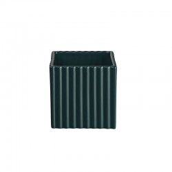 Planter with Grooves 10Cm - Quadro Petrol - Asa Selection