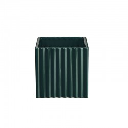 Planter with Grooves 12Cm - Quadro Petrol - Asa Selection