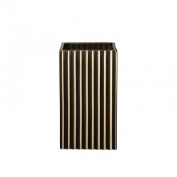 Vase 21Cm with Grooves Gold - Quadro - Asa Selection