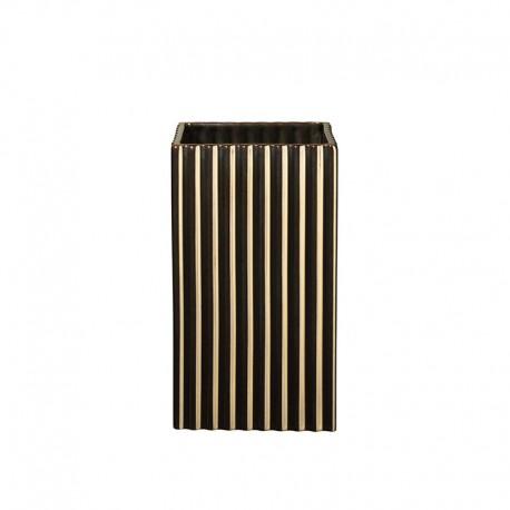 Vase 21Cm with Grooves Gold - Quadro - Asa Selection ASA SELECTION ASA46106425