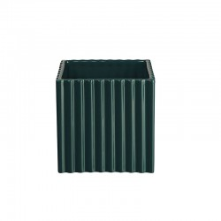 Planter with Grooves 15Cm - Quadro Petrol - Asa Selection ASA SELECTION ASA46126121