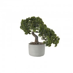 Bonsai Cipreste Artificial – Deko Verde E Cinza - Asa Selection