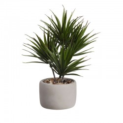 Bonsai Palm Artificial – Deko Verde E Cinza - Asa Selection