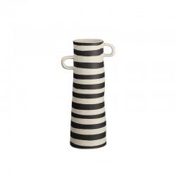 Vase Black Stripes 28cm – Rayu Black And White - Asa Selection ASA SELECTION ASA84004130