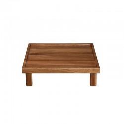 Bandeja Cuadrada con Piés 25cm – Wood Marrón - Asa Selection