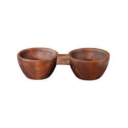 Double Snack Bowl - Wood Brown - Asa Selection