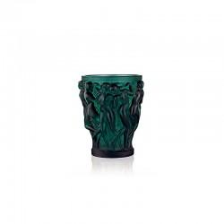 Crystal Intense Green Vase - Bacchantes - Lalique LALIQUE LQ10547700