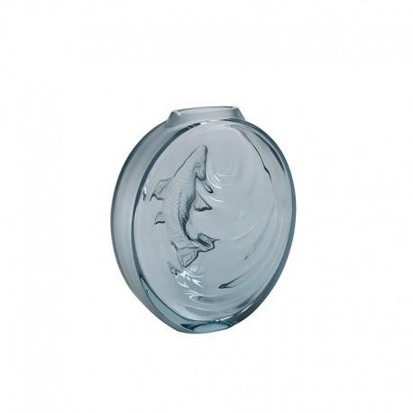 Crystal Vase Persepolis Blue - Carpe Koi - Lalique LALIQUE LQ10671500