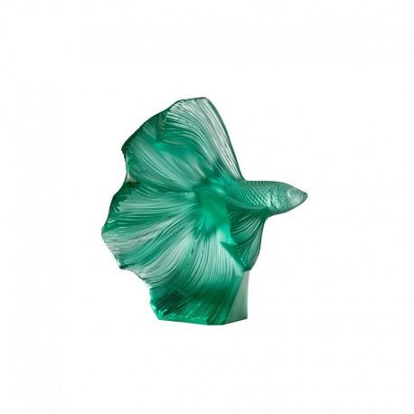 Escultura de Cristal Pez Verde - Fighting Fish - Lalique LALIQUE LQ10672600