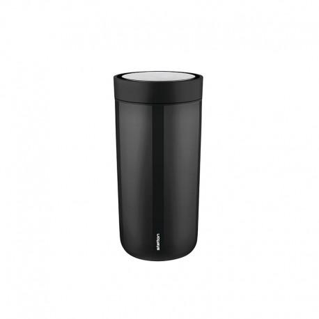 Thermal Cup Inox Black 400ml - To Go Click - Stelton STELTON STT680-1