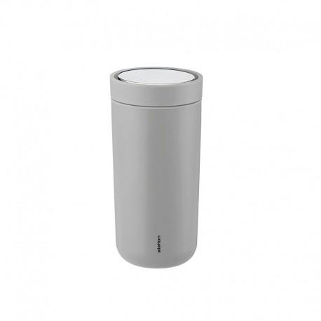 Thermal Cup Inox Light Grey 400ml - To Go Click - Stelton STELTON STT680-13