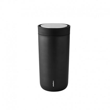 Thermal Cup Inox Black Metallic 400ml - To Go Click - Stelton STELTON STT680-16