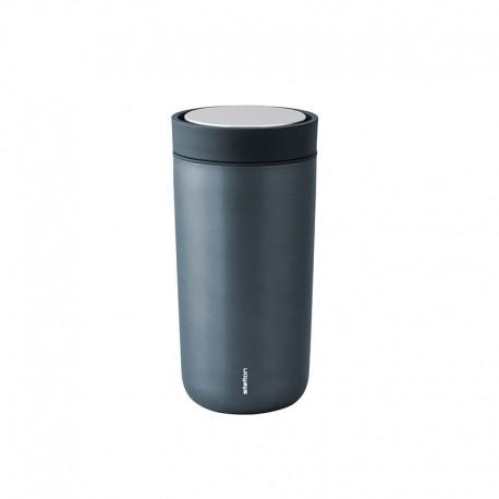 Vaso Térmico Inox Azul Metálico 400ml - To Go Click - Stelton STELTON STT680-18