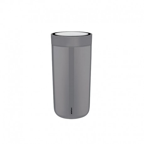 Thermal Cup Inox Granite Grey 400ml - To Go Click - Stelton STELTON STT680-6