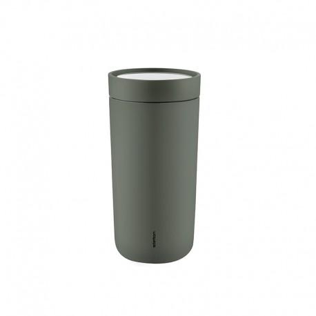 Copo Térmico Inox Verde Escuro 400ml - To Go Click - Stelton STELTON STT680-26