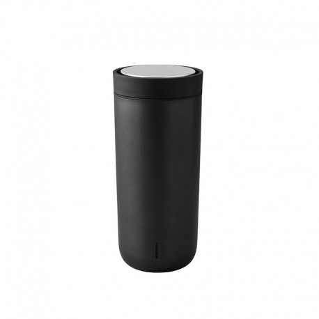 Thermal Cup Black Metallic 480ml - To Go Click - Stelton STELTON STT690-16