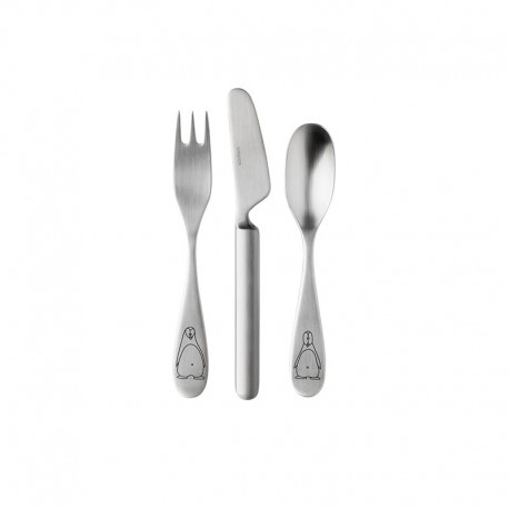 Children´s Cutlery Set – Pingo Grey - Stelton STELTON STT331