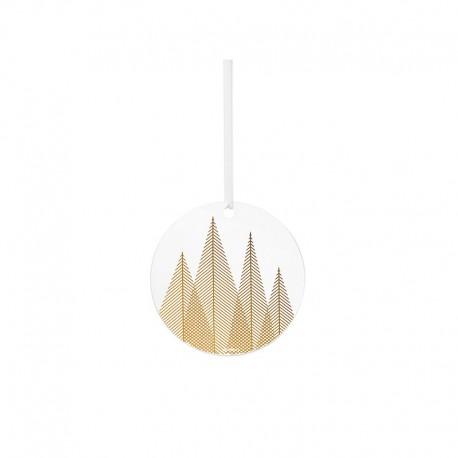 Ornamento de Vidrio Pino Dorado - Christmas - Stelton STELTON STT10700