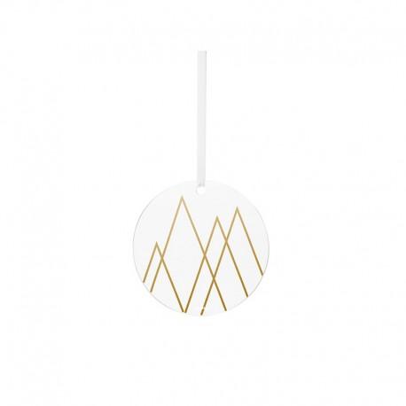 Ornamento de Vidrio Ángulo Dorado - Christmas - Stelton STELTON STT10701