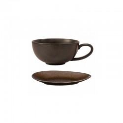 Tea Cup with Saucer Brown – Cuba Marone Brownn - Asa Selection