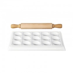 Ravioli Maker and Rolling Pin – 250ºC White - Asa Selection
