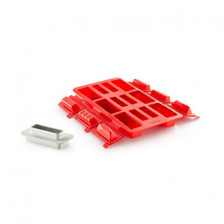 Mini Bûche Square Shaped Red - Lekue LEKUE LK3000097SURM017