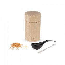 Natural Wooden Flax Seed Mill - Naka Brown - Peugeot Saveurs