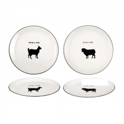 Cheese Plates Set Of 2 Goat - Fromage White - Asa Selection