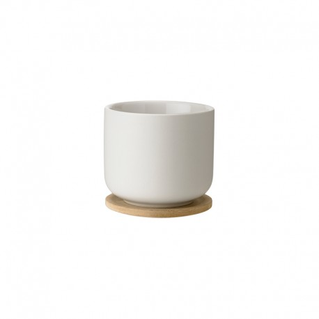 Cup with Coaster Sand - Theo - Stelton STELTON STTX-632-1