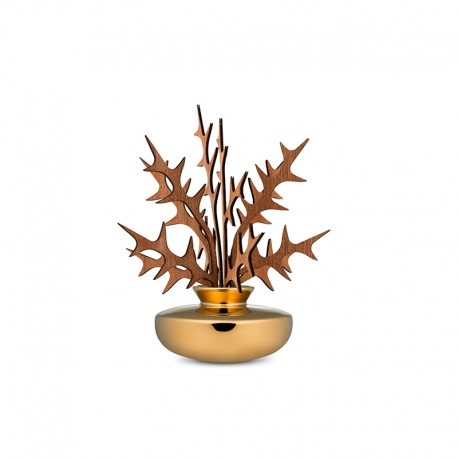 Leaf Fragrance Diffuser Ohhh - The Five Seasons Gold - Alessi ALESSI ALESMW646SGD
