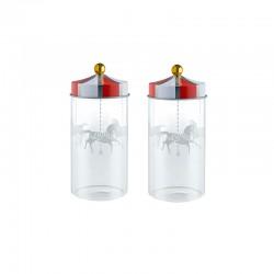 Set of 2 Spice Jars - Circus - Alessi
