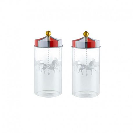 Set of 2 Spice Jars - Circus - Alessi ALESSI ALESMW68S2