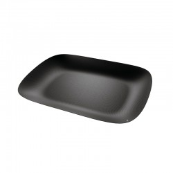 Rectangular Tray Black - Moiré - Alessi