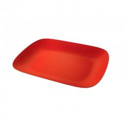 Tabuleiro Retangular Vermelho - Moiré - Alessi