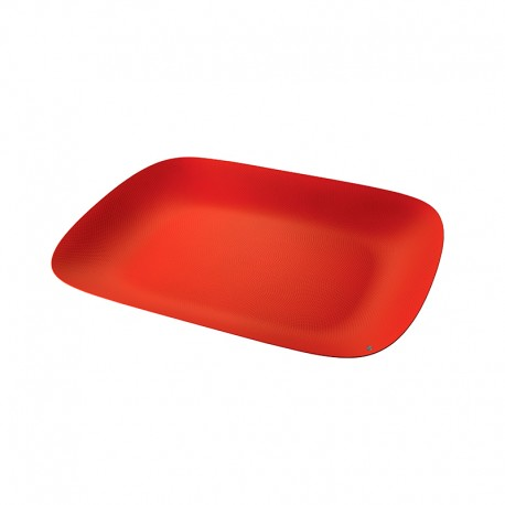 Rectangular Tray Red - Moiré - Alessi ALESSI ALESMW70RT