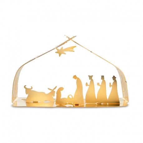 Crib Carat Gold - Bark Crib - Alessi ALESSI ALESBM09GD