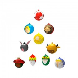 Set of 10 Christmas Baubles – Le Palle Presepe - A Di Alessi