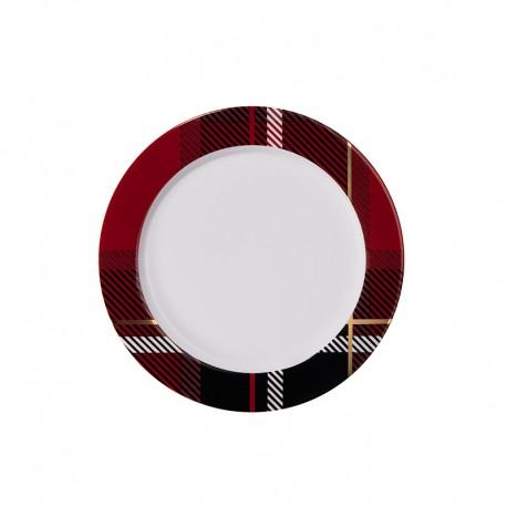 Plate with Rim Red - Tartan - Asa Selection ASA SELECTION ASA29215090
