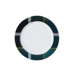 Plate with Rim Petrol - Tartan - Asa Selection