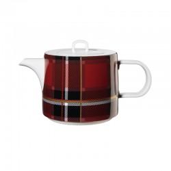 Teapot with Filter Red - Tartan - Asa Selection