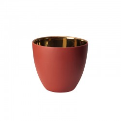 Porta-velas/Lanterna Vermelho e Dourado Ø9cm - Saisons - Asa Selection ASA SELECTION ASA10241185