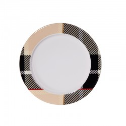 Plate with Rim Beige - Tartan - Asa Selection