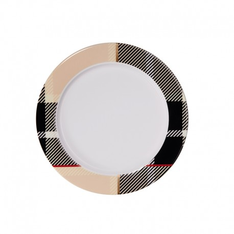 Plate with Rim Beige - Tartan - Asa Selection ASA SELECTION ASA29115090