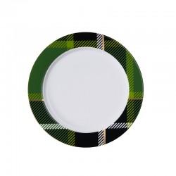 Plate with Rim Green - Tartan - Asa Selection