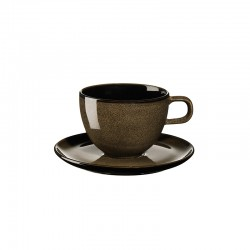 Coffee Cup With Saucer Chestnut - Kolibri - Asa Selection