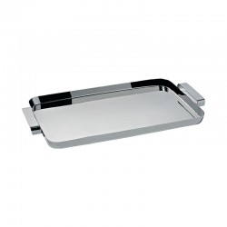 Rectangular Tray With Handles - Tau Silver - Alessi