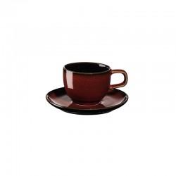 Taza para Exprés con Platillo Rusty Red - Kolibri - Asa Selection ASA SELECTION ASA25512250