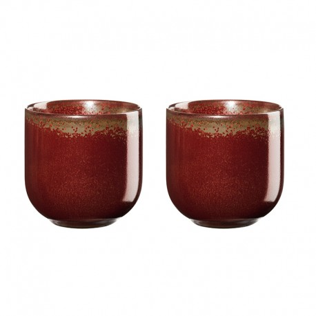 Set of 2 Teacups 200ml – Coppa Rusty Red - Asa Selection ASA SELECTION ASA19080176