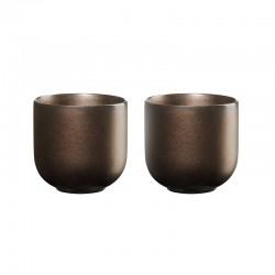 Set of 2 Teacups 200ml – Coppa Ferro Iron - Asa Selection