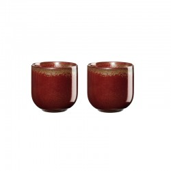 Set of 2 Teacups 150ml – Coppa Rusty Red - Asa Selection